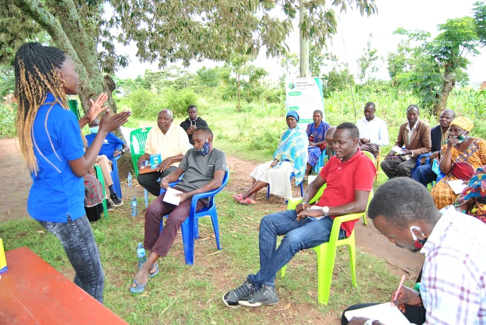 Farmers participate in training