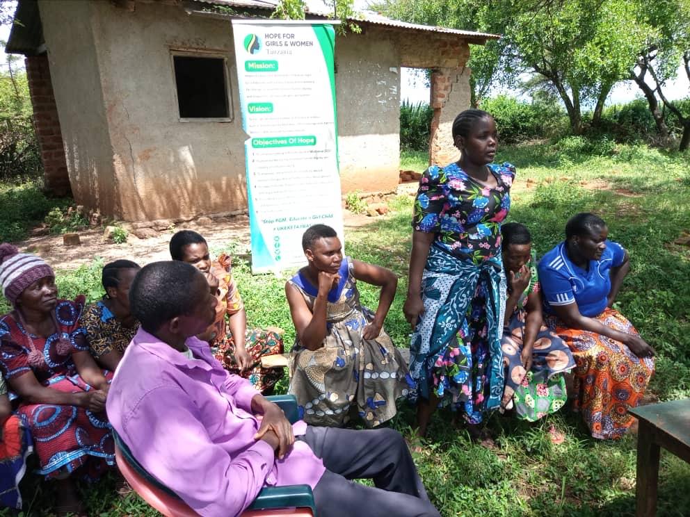 Women receiving entrepreneurship training